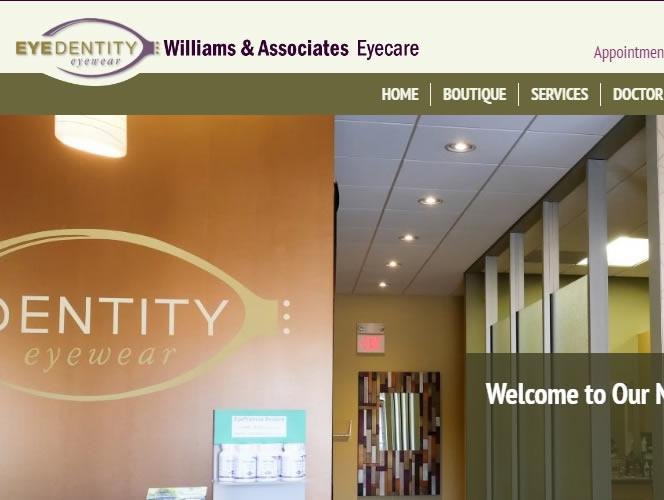 Eyedentity Eyewear Williams & Associates Eyecare has a new website!