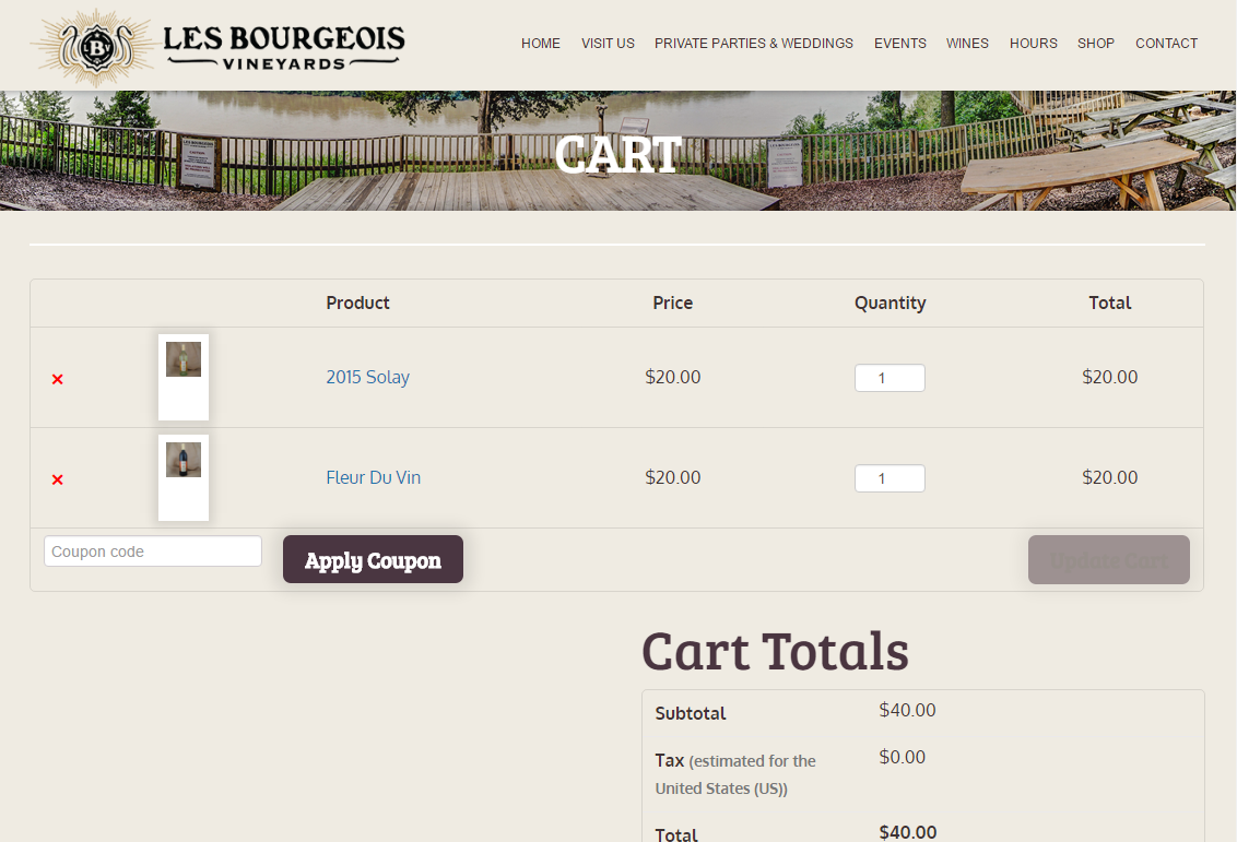 Les Bourgeois Shopping Cart