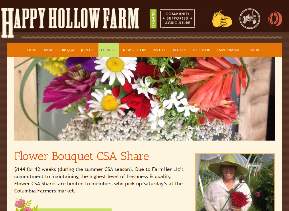 Happy Hollow Farm New Flower Page