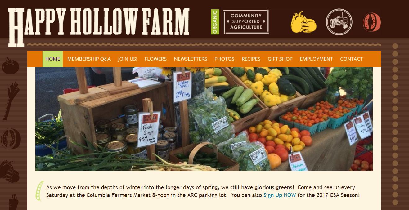 Happy Hollow Farm Updated Website