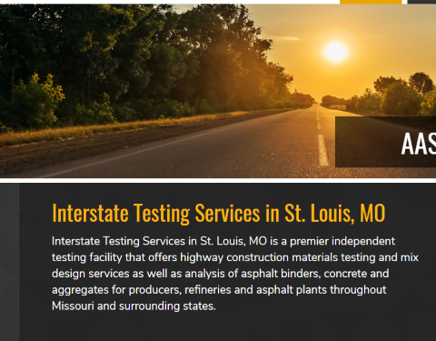 Interstate Testing Services helps pave over the competition with a brand new website!