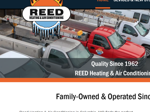 Reed Heating & Air Conditioning is heating up the web with their brand new website!
