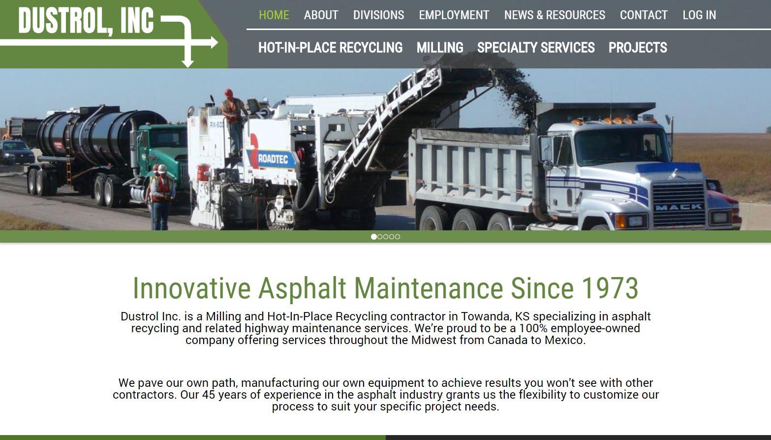 Dustrol, Inc's. New Website