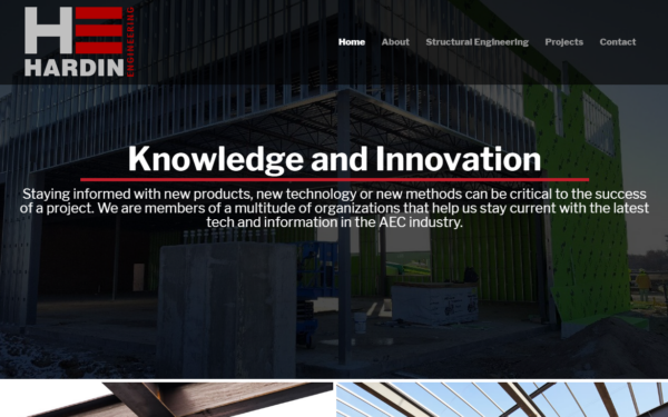 Hardin Engineering's sturdy new website is a solid success!