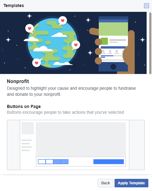 New Facebook Template for Nonprofits
