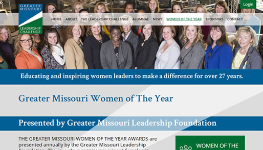 Greater Missouri Leadership Foundation's new website