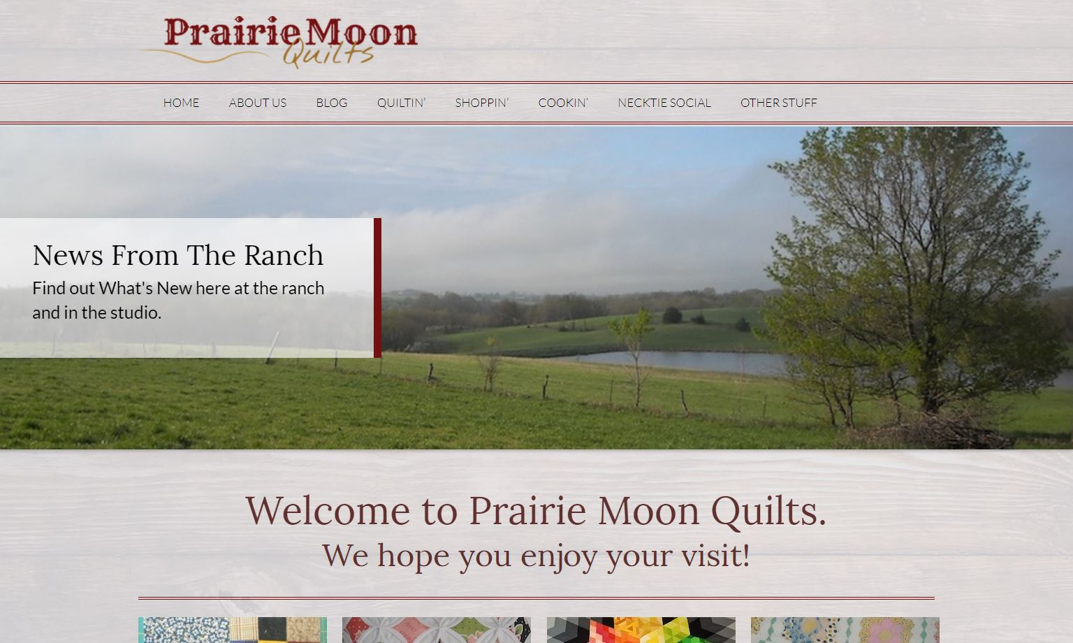 Prairie Moon Quilts New Website Features