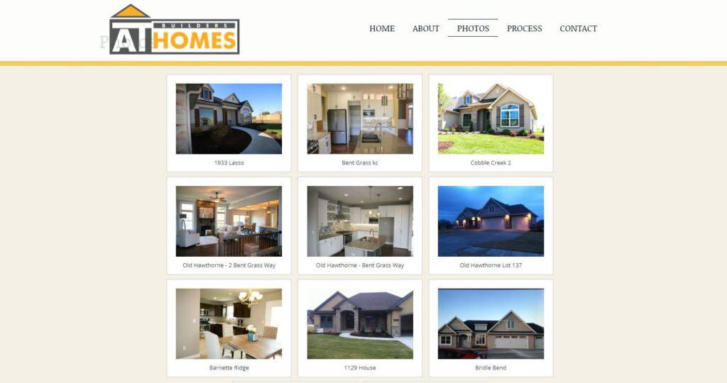 Construction Portfolio Examples: AT Homes Photo Gallery