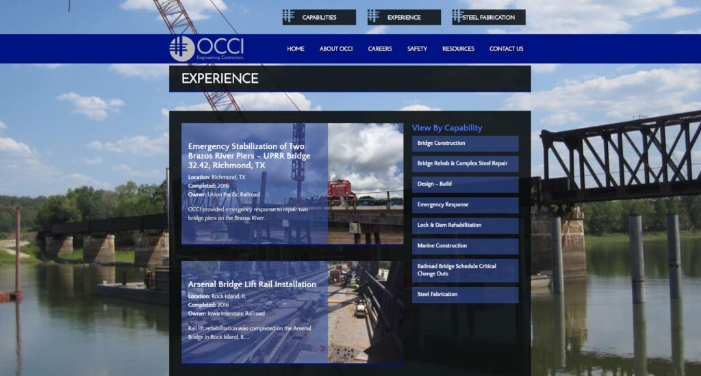 Construction Portfolio Examples: OCCI, Inc. Project Overview Portfolio