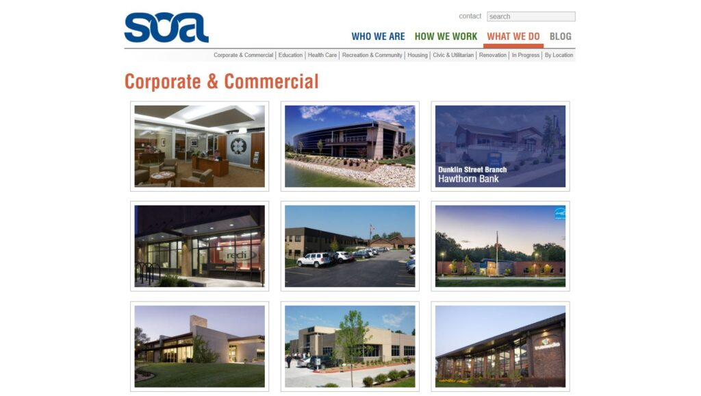 Construction Portfolio Examples: SOA, Inc. Extended Gallery with Project Overview