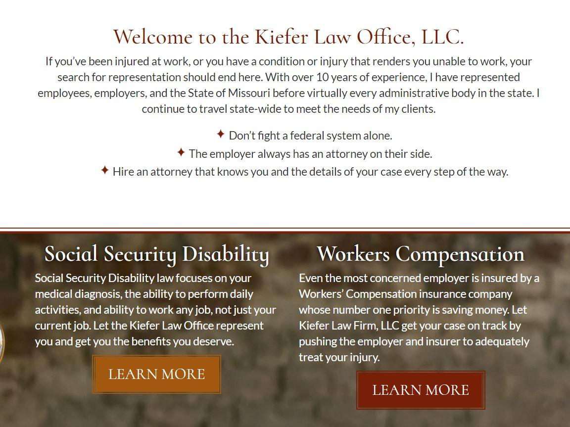 Kiefer Law Office's new website