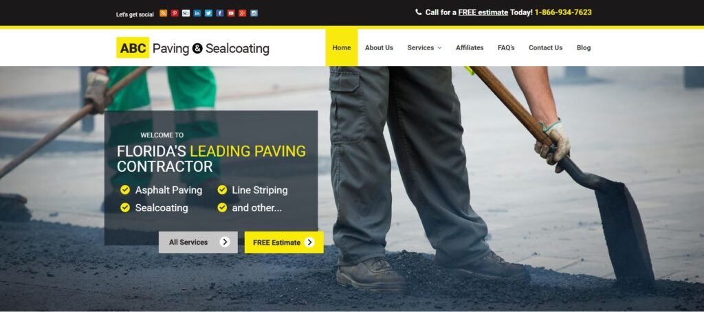 Paving Website Trends - ABC Paving & Sealcoating: Division of Color