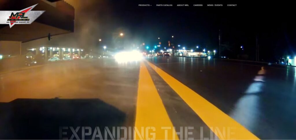 Paving Website Trends - MRL Equipment Company, Inc.: Wide with Big Header Images