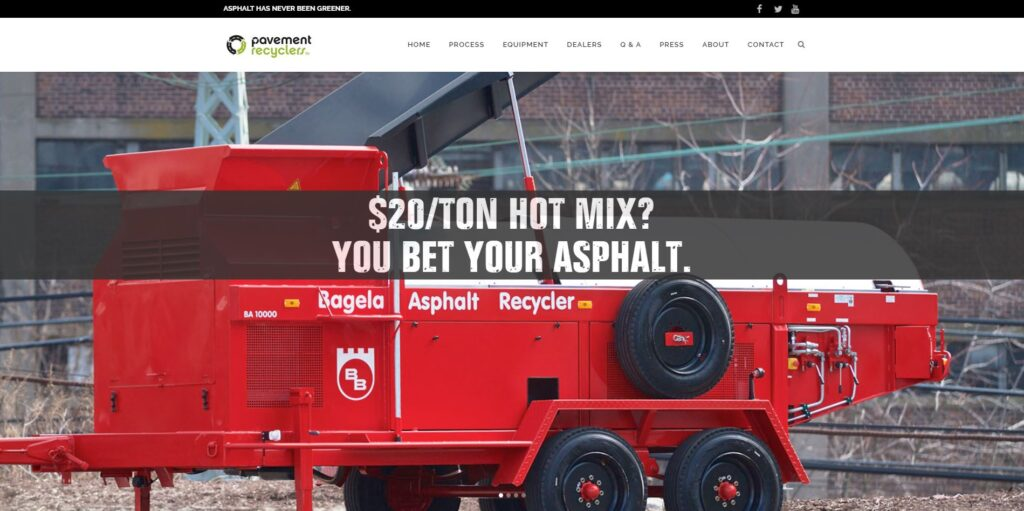 Paving Website Trends - Pavement Recyclers: Original Imagery