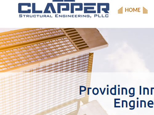 Clapper Structural Engineering has a sturdy new structure on the web!