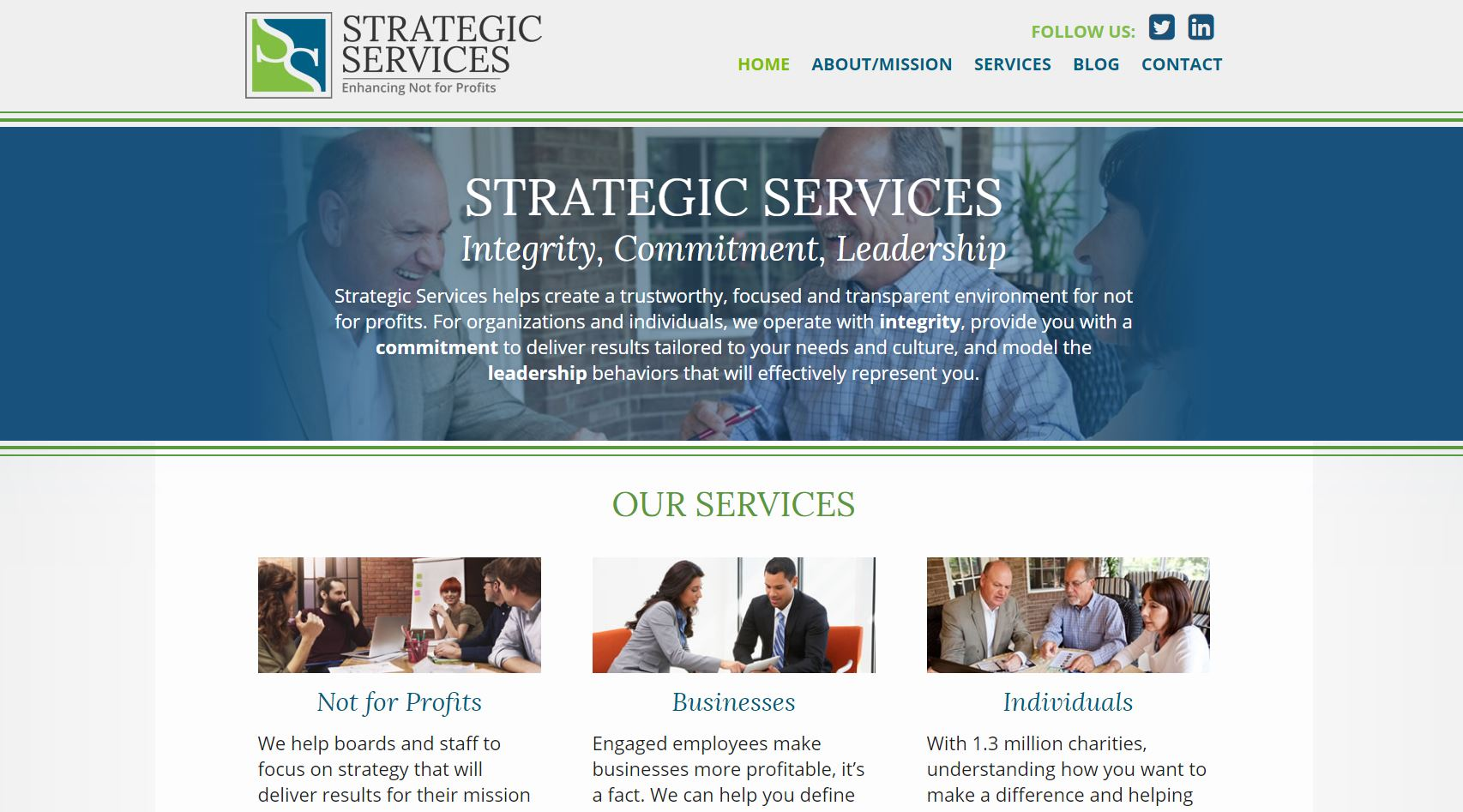 Strategic Services New Website - MayeCreate Design