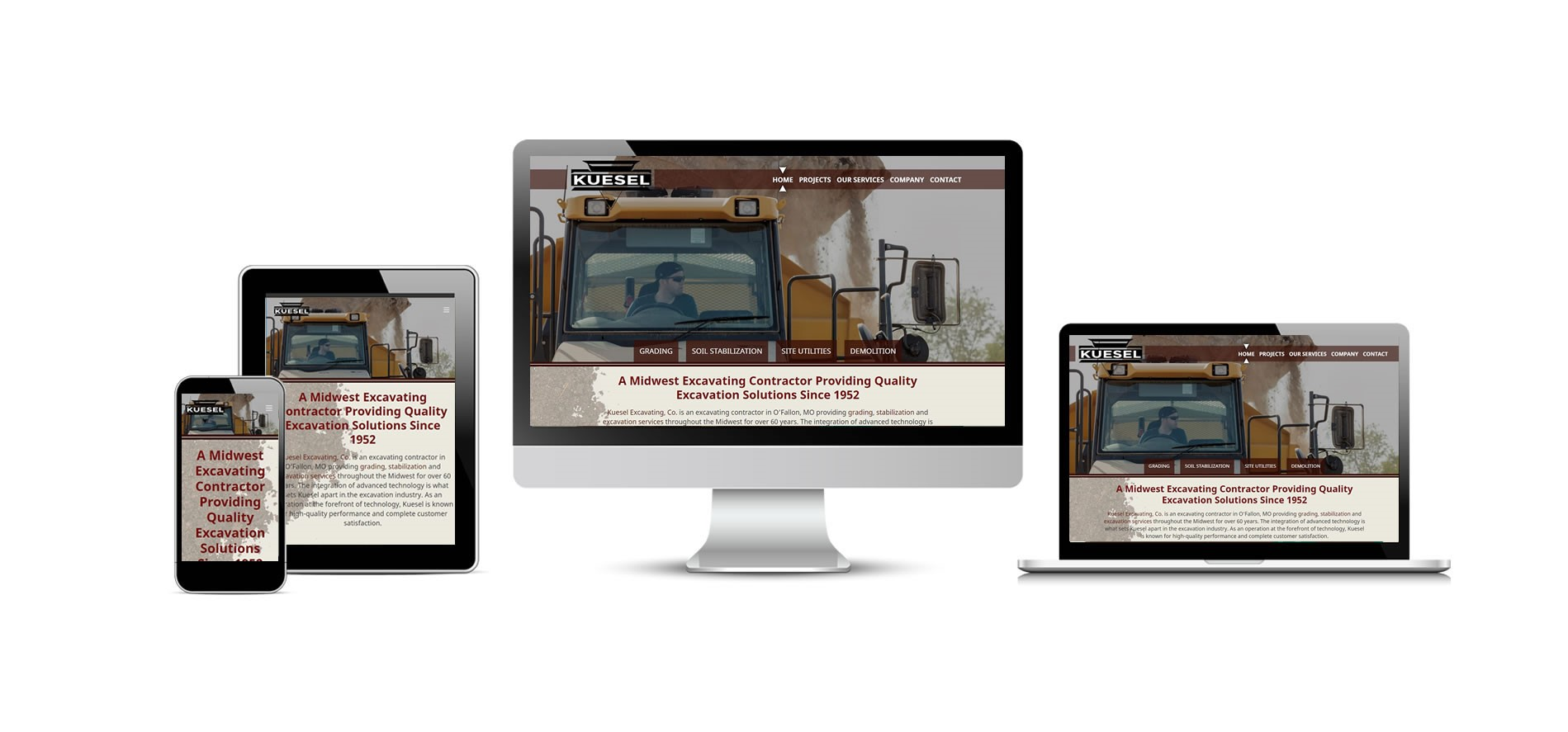Kuesel Excavating's New Website