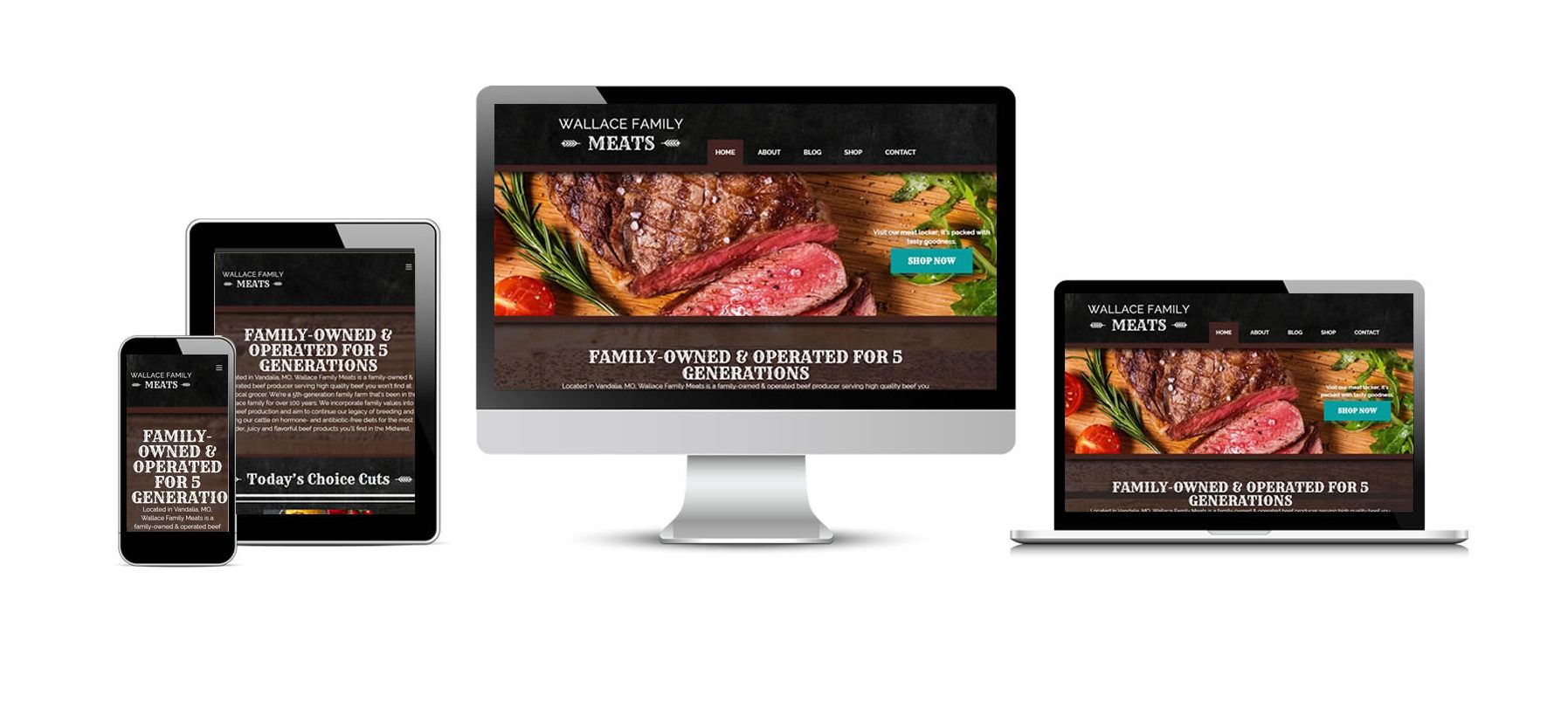 Wallace Family Meats New Website