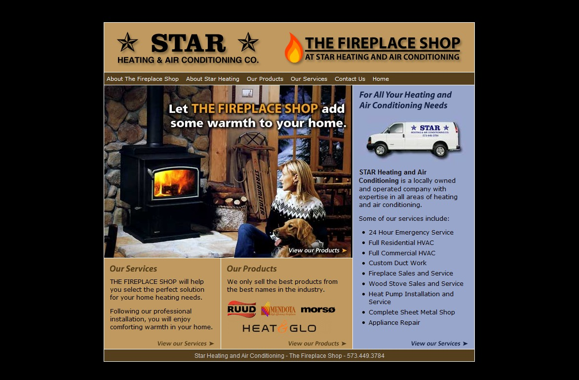 Star Heating and Air Conditioning's OLD Old Website