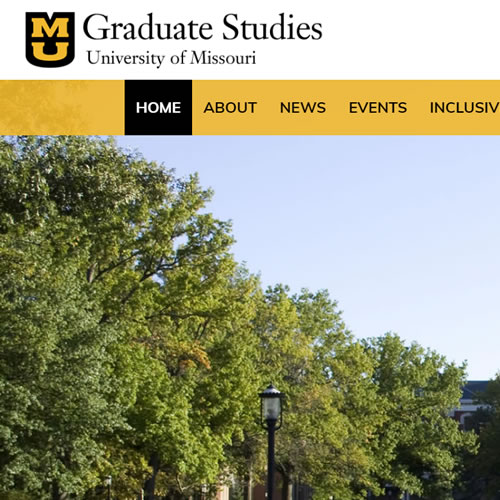 University of Missouri Graduate Studies Website - Featured Image with Logo