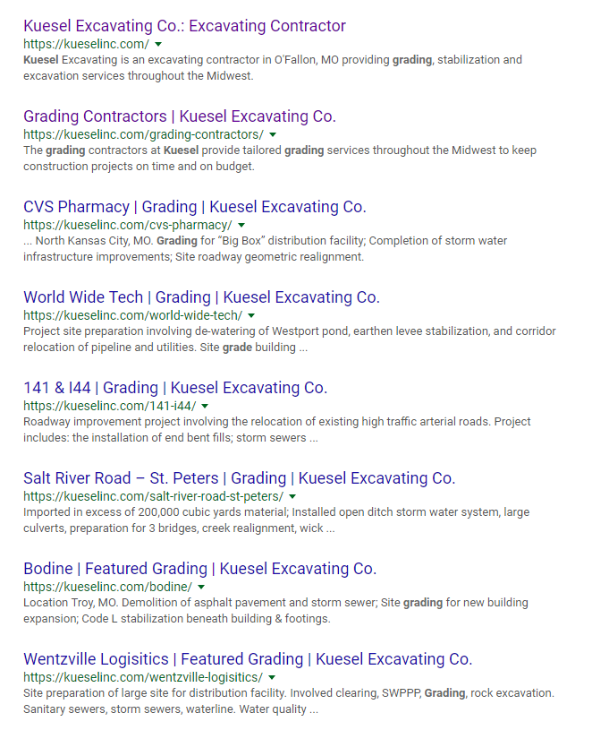 SEO Best Practices: Kuesel Grading Search Results