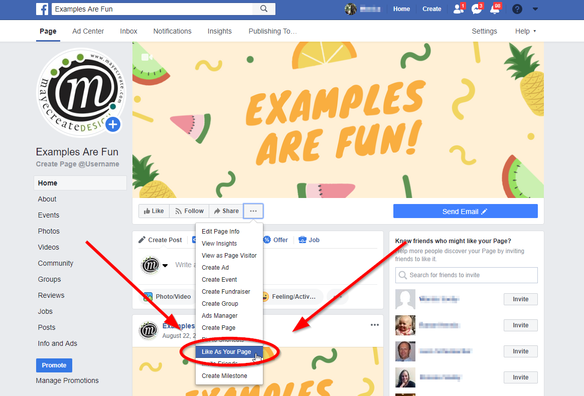 Facebook Fundamentals: How to Like Other Pages as your Page - Step 3