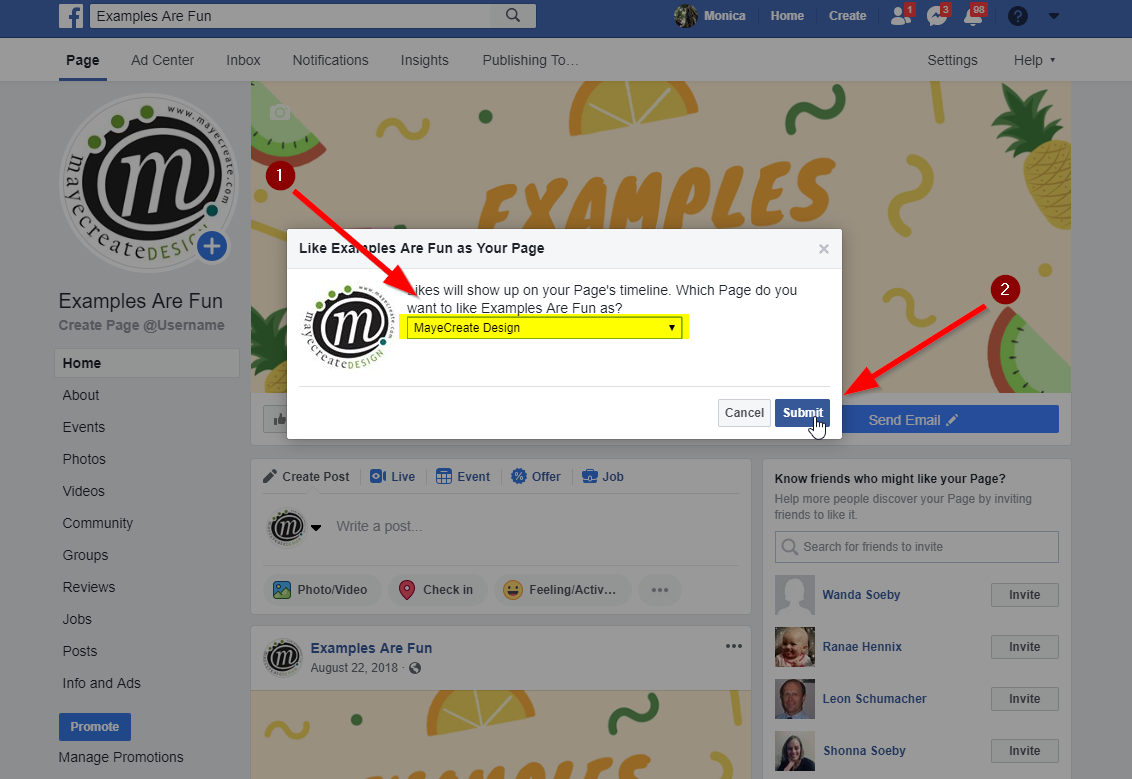 Facebook Fundamentals: How to Like Other Pages as your Page - Step 4