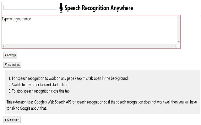 Speech Recognition Anywhere - Voice Recognition Chrome Extensions