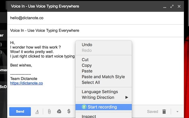 VoiceIn - Voice Recognitions Chrome Extensions