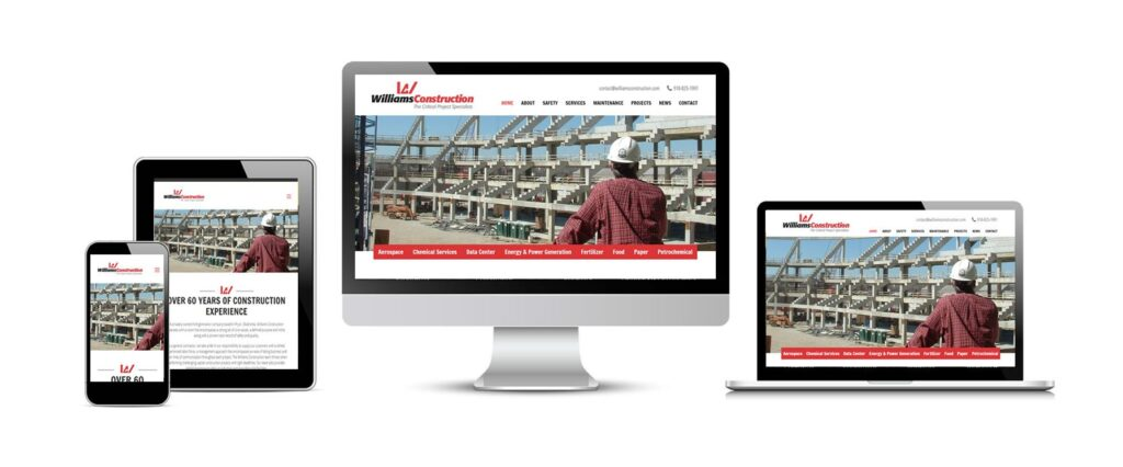 Williams Construction New Website
