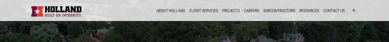 Construction Website Trends - Simple Navigation - Holland