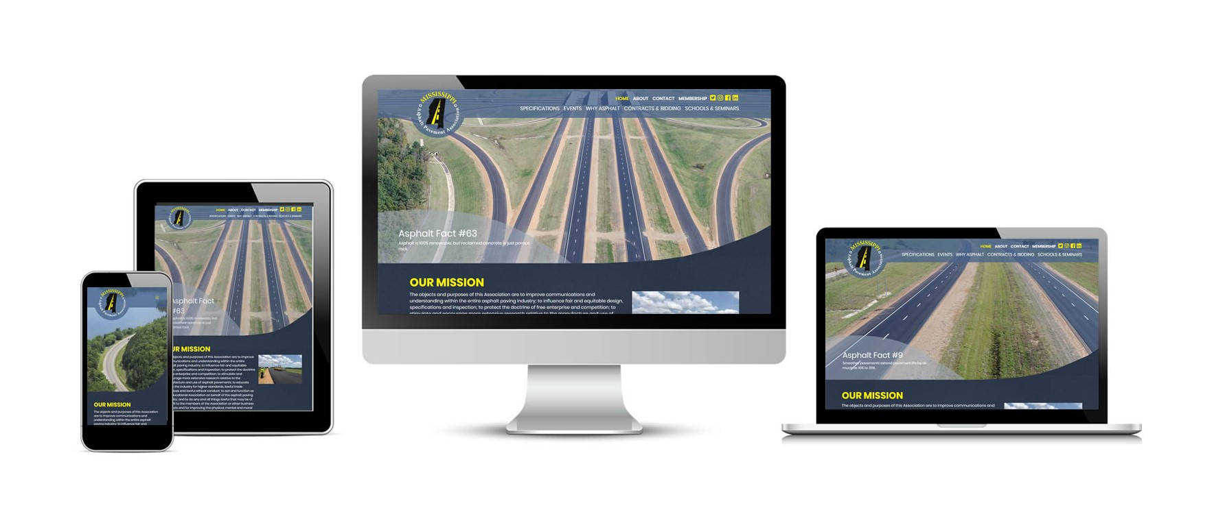 Mississippi Asphalt Pavement Association New Website
