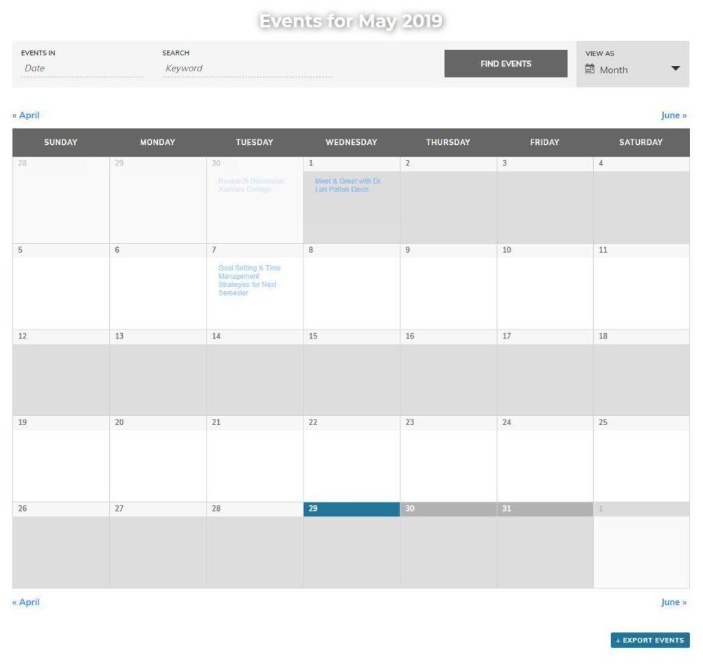 University of Missouri Grad Studies New Website - Events Calendar
