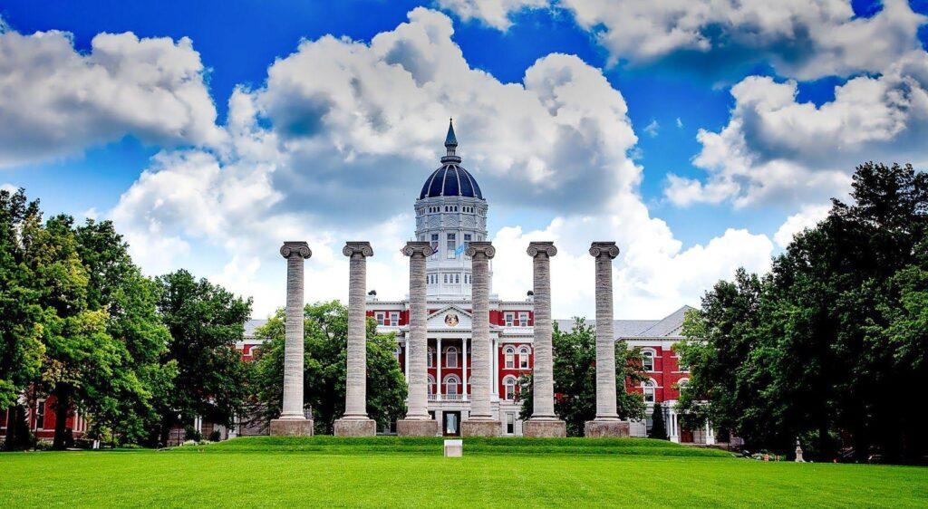 University of Missouri Grad Studies New Website - Jesse Hall and the Columns