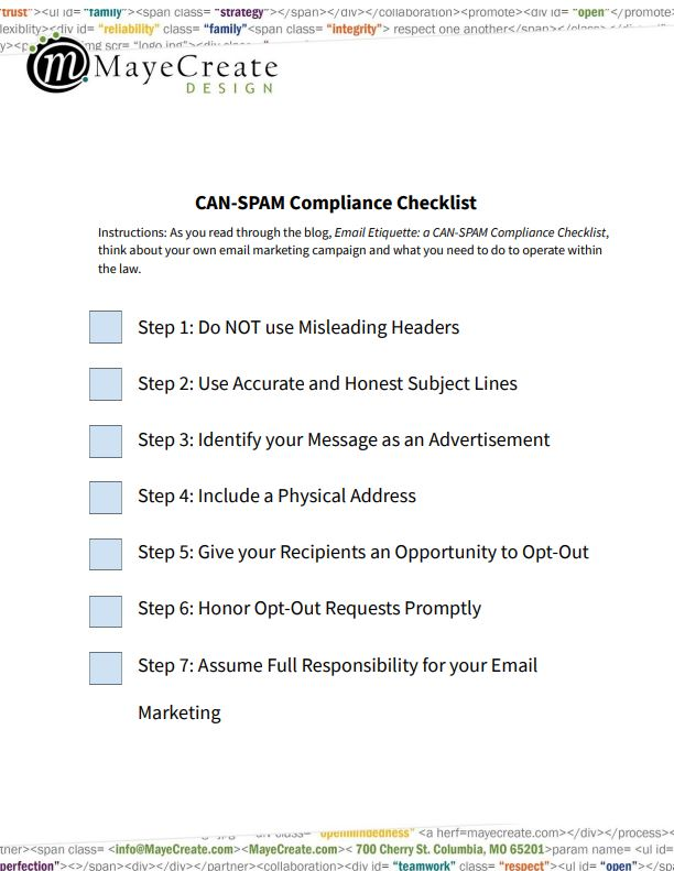 CAN-SPAM Compliance Checklist