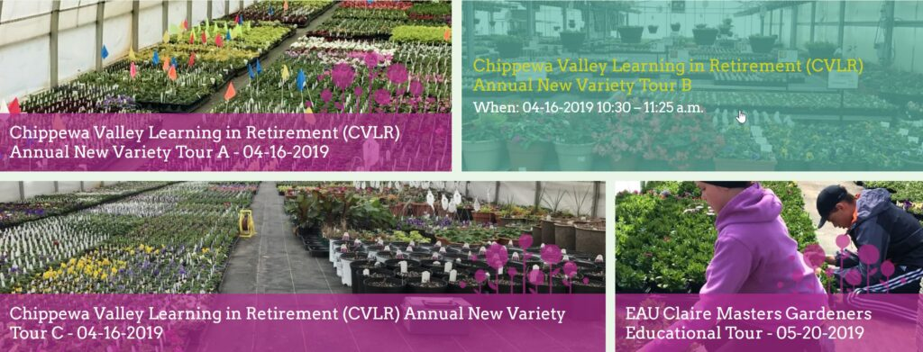 Chippewa Valley Growers New Website - Events Page