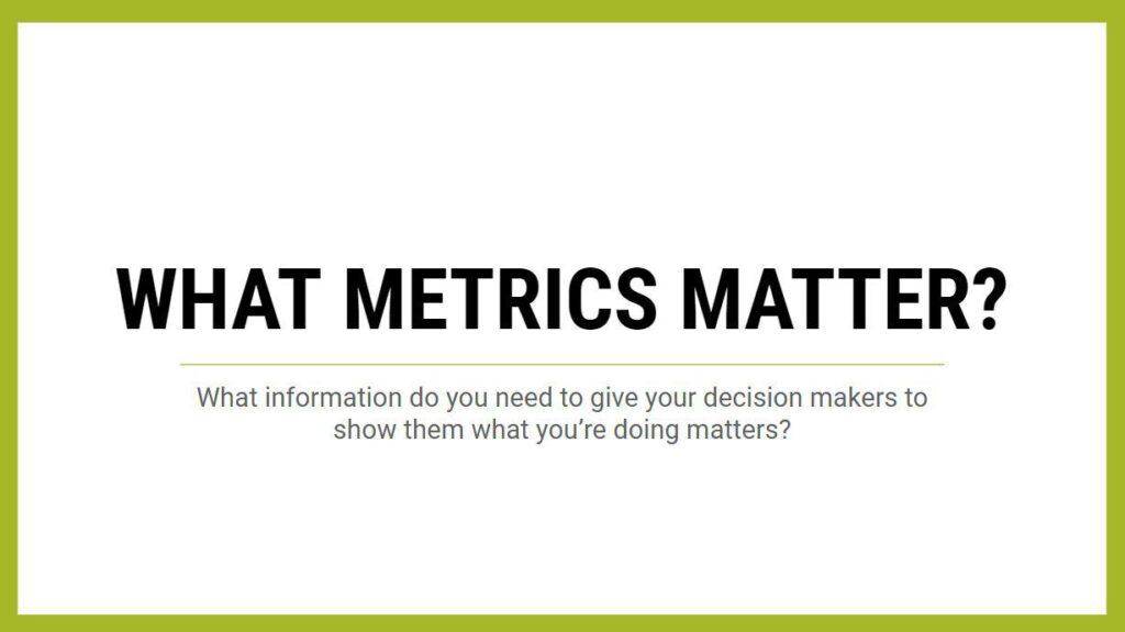 Social Media Management - What metrics matter?