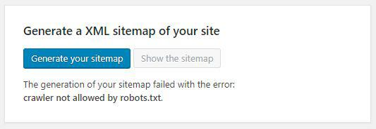 how to submit a sitemap on search engines - generate your sitemap button