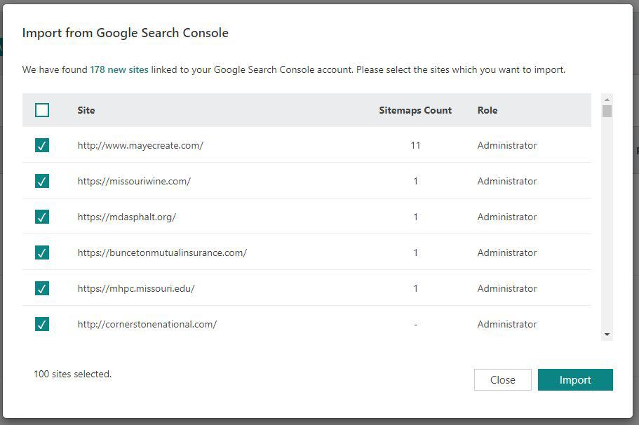 how to submit a sitemap on search engines - import from Google Search Console to Bing