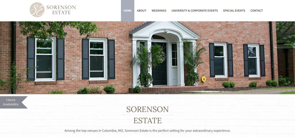 Sorenson Estates New Website