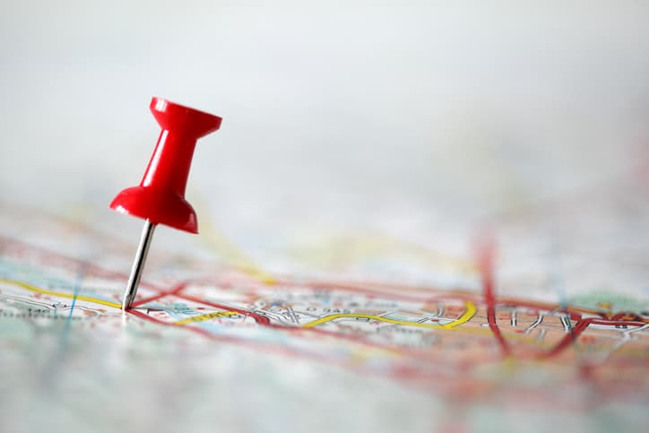 Not Setting Goals - Tack stuck onto a map