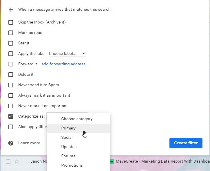 how to manage email efficiently in gmail - filter options