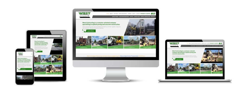 West Contracting's new website