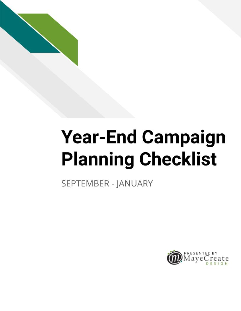 Year-End Campaign Planning Checklist