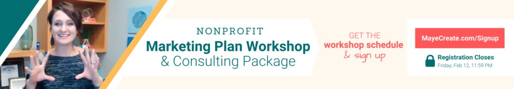 Nonprofit Marketing Plan Workshop and Consulting Package
